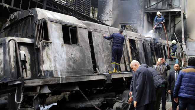 25 Killed In Train Fire At Cairo Rail Station