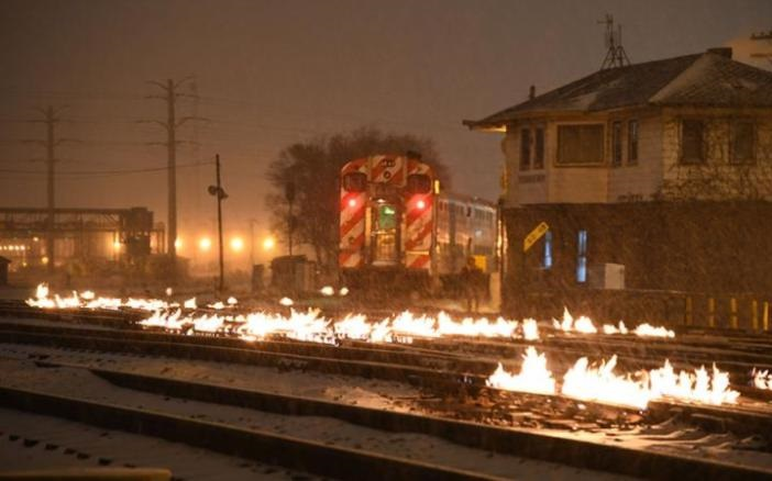 A Hot Idea For Cold Chicago: Setting Rail Tracks On Fire